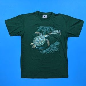 Vintage Green Turtle Australia Shirt Medium